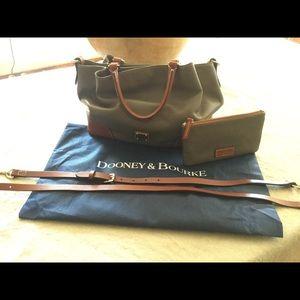 Dooney & Bourke Pebble Leather Brenna Satchel